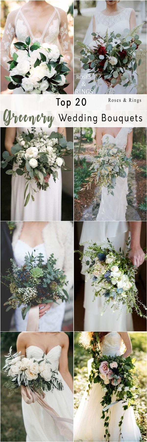 rustic greenery wedding bouquets