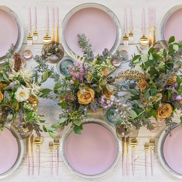 Wedding Reception Table Setting Decoration Ideas 2 Roses Rings