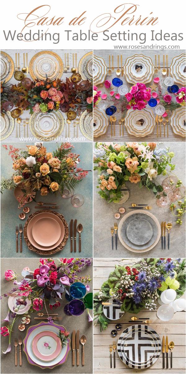 Wedding Reception Table Setting Decoration Ideas from Casadeperrin