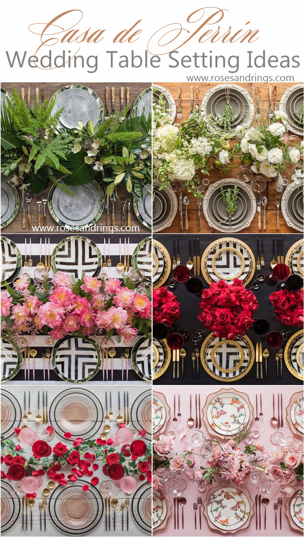 Wedding Reception Table Setting Decoration Ideas from Casadeperrin