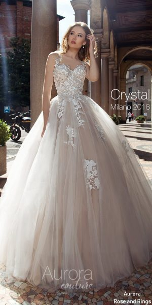 A line bohemian beach lace wedding dress CRYSTAL
