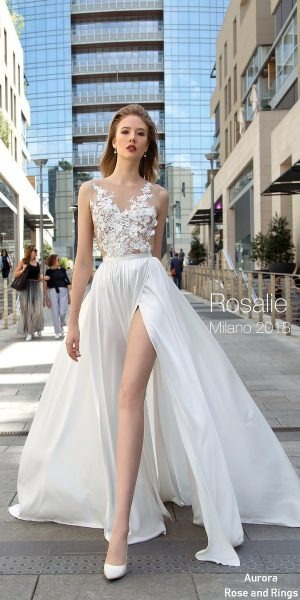 Long beach wedding dress ROSALIE