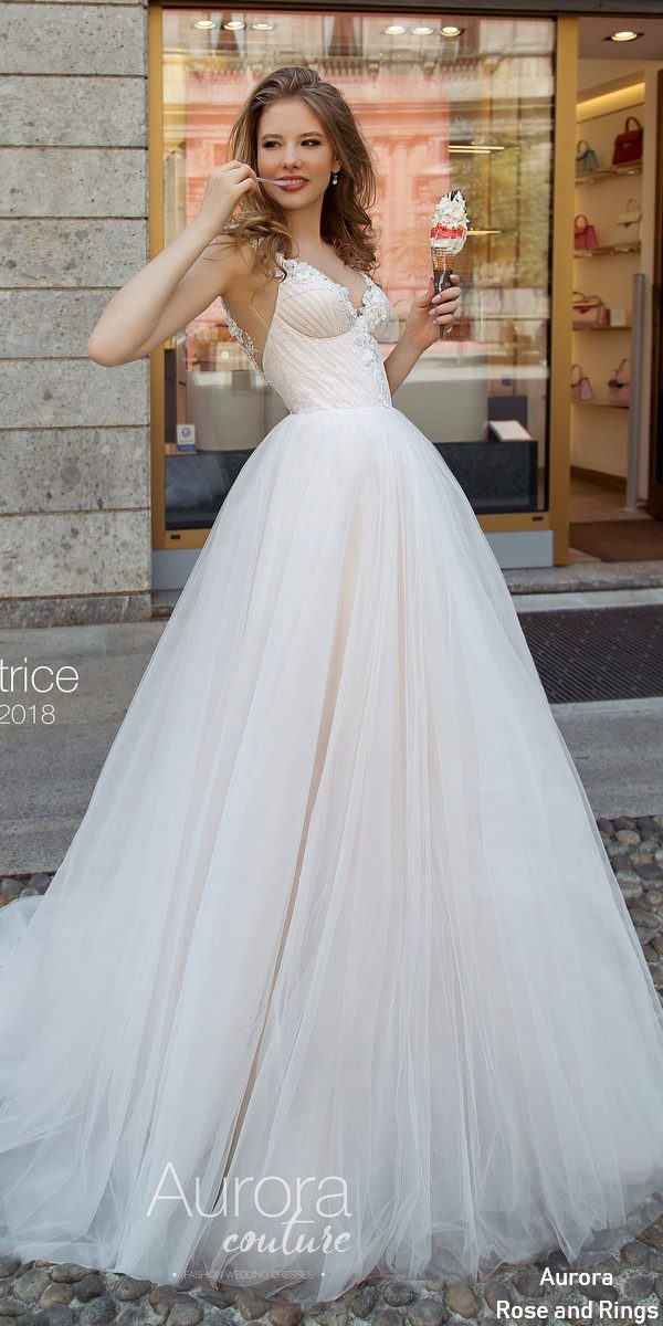 Vneck ball gown wedding dress BEATRICE