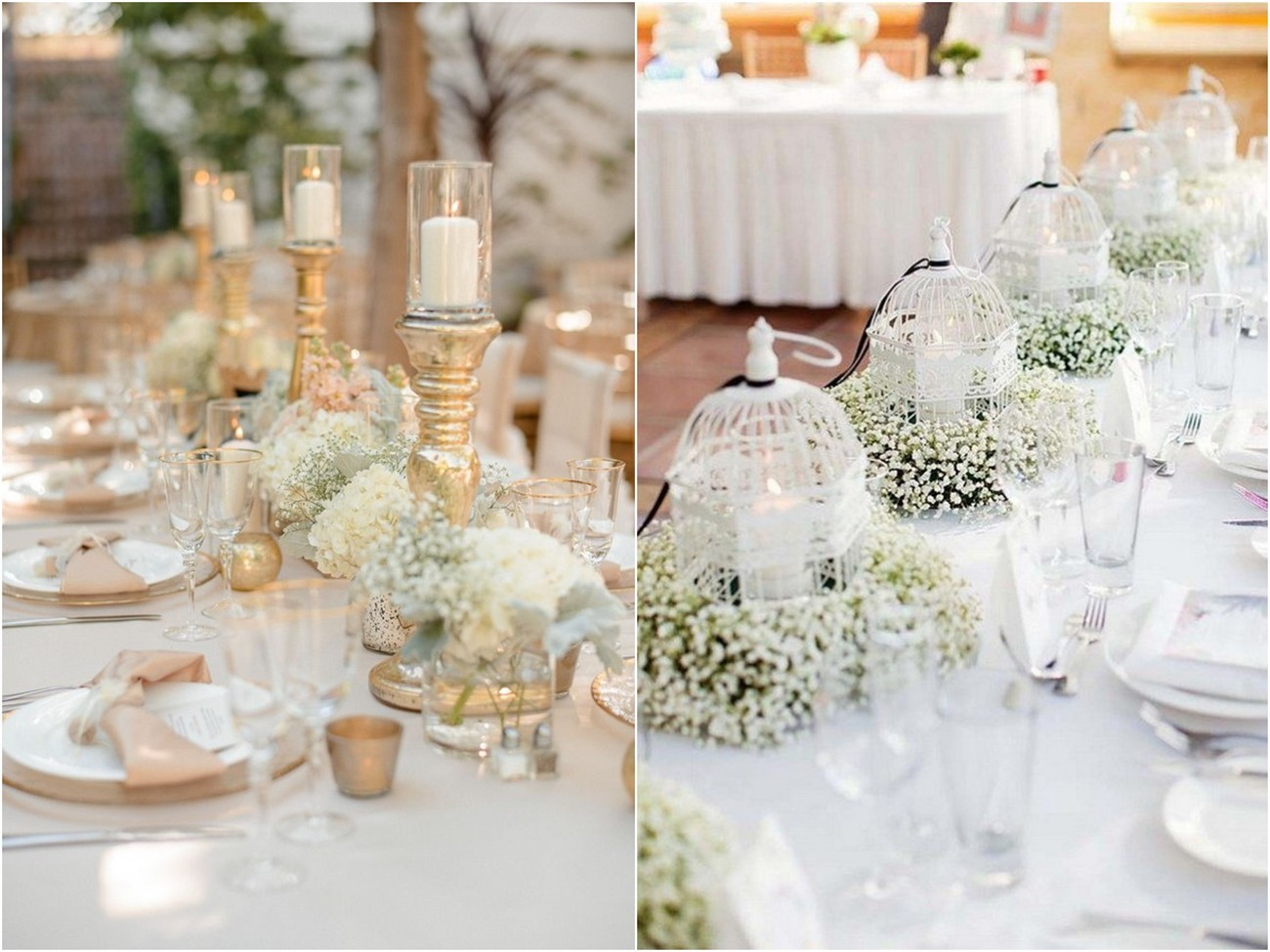 20 Save Money Baby's Breath Wedding Centerpieces | Roses & Rings