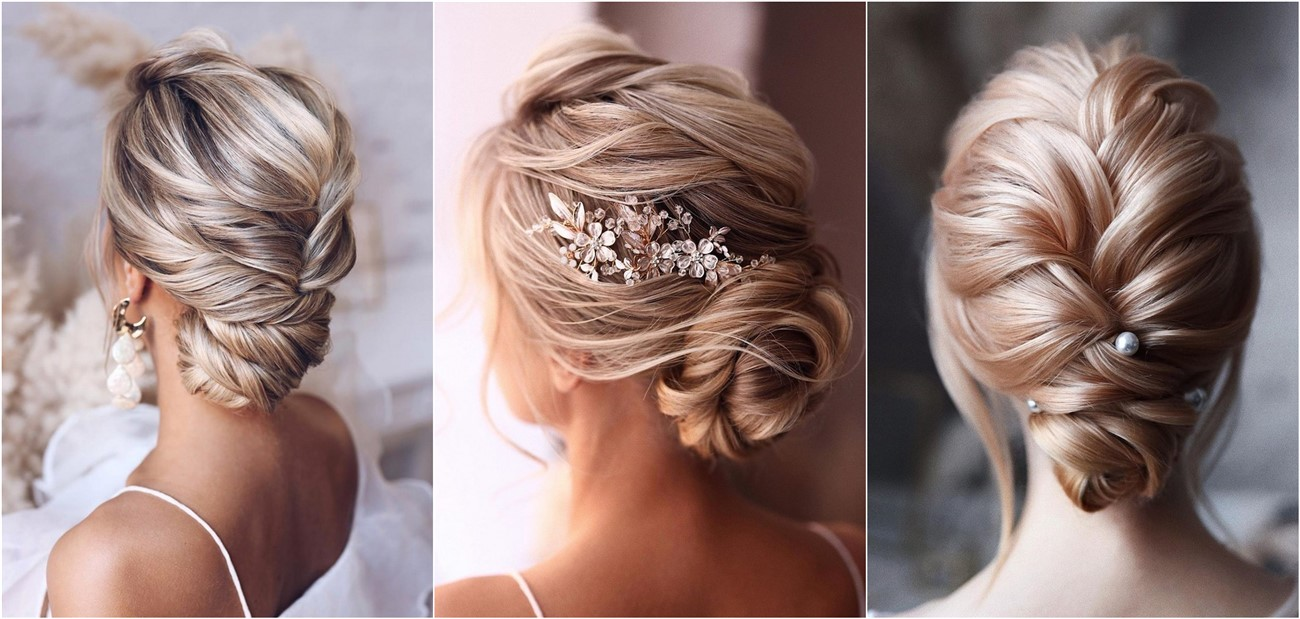 20 Classic Low Bun Wedding Hairstyles From Tonyastylist Roses Rings