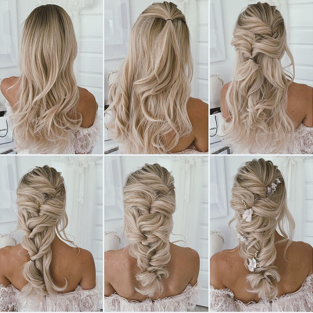 11+ Prom Wedding Hairstyle Tutorial for Long Hair  Roses & Rings