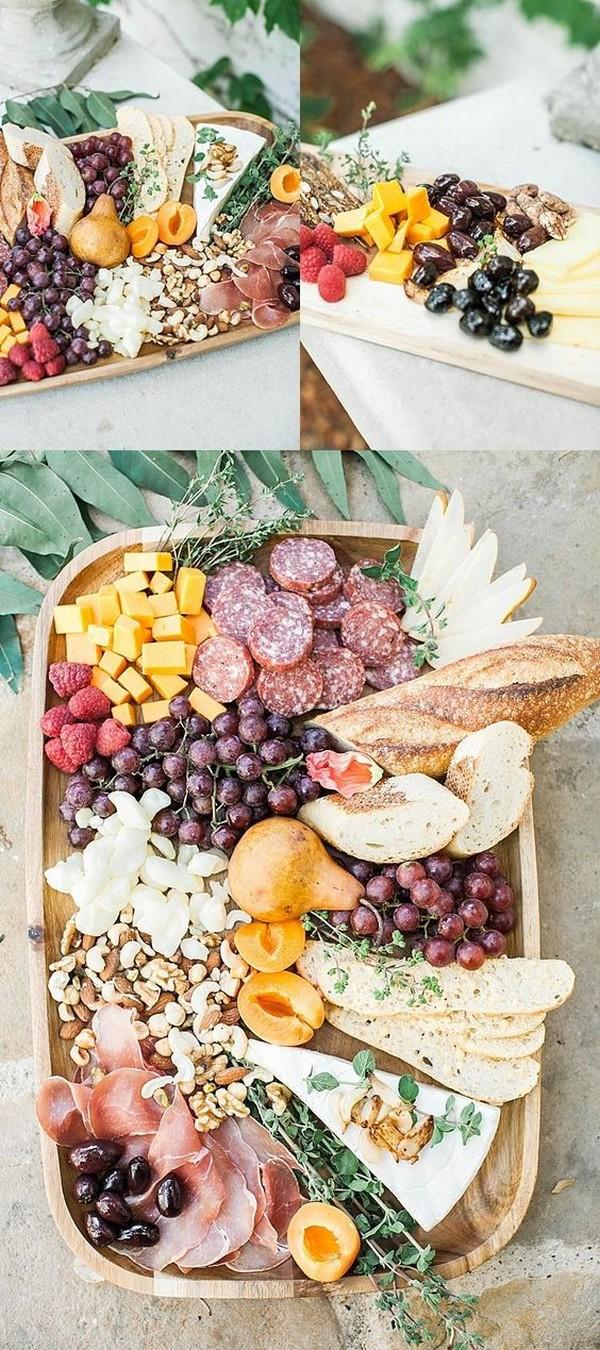 charcuterie table ideas for outdoor weddings