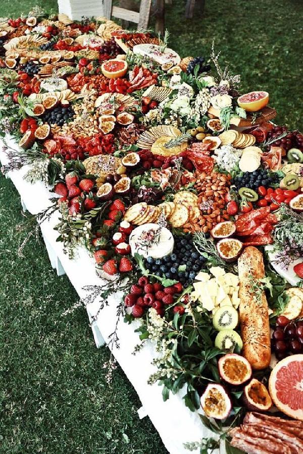 wedding food trends charcuterie wedding table 2