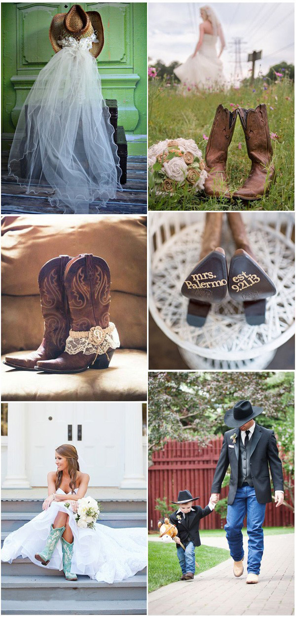 Rustic Country Cowboy Boots Inspired Wedding Ideas