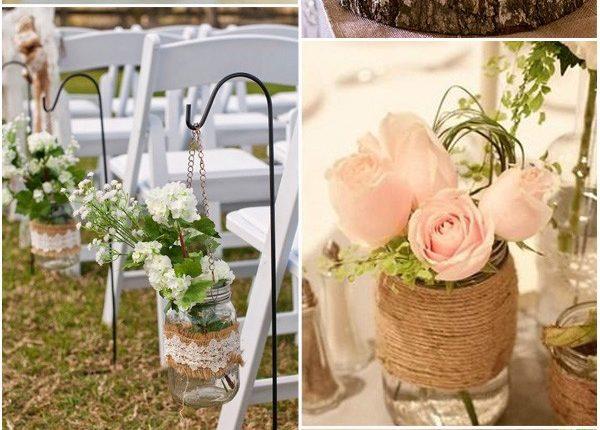 Rustic Country Wedding Ideas with Mason Jars