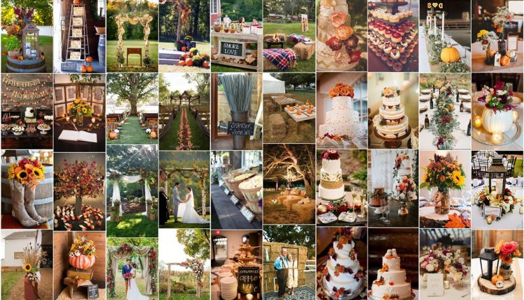 fall wedding ideas and wedding colors