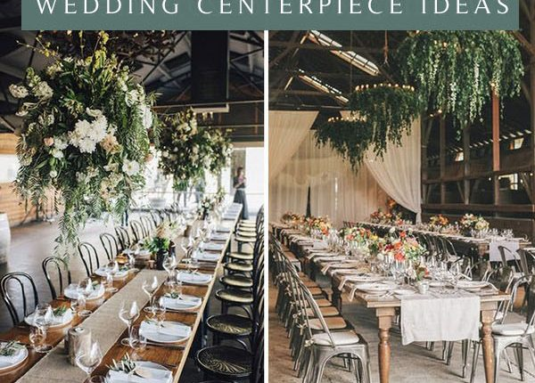 hanging greenery decoration ideas for your wedding reception party