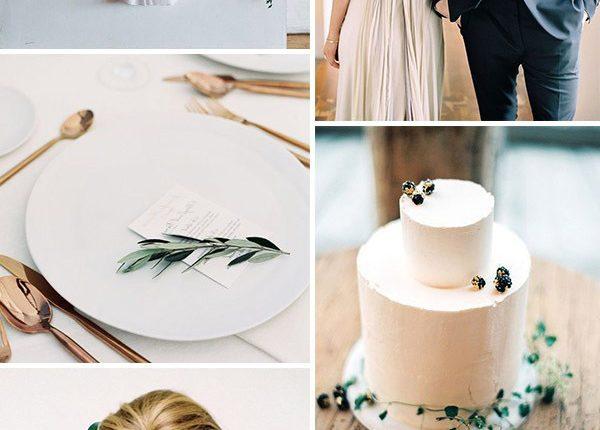 romantic taupe oraganic minimalist wedding ideas