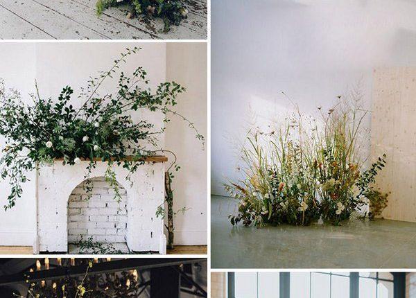 wild weedy floral greenery wedding ideas for wedding trends