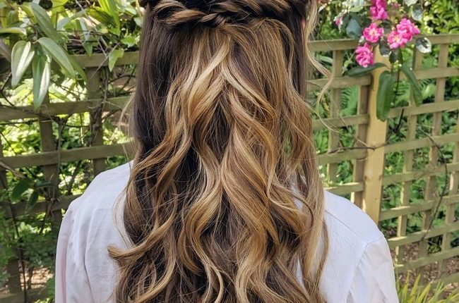 Olga Hampshire Half Up Half Down Wedding Hairstyles 10