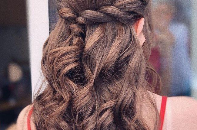 Olga Hampshire Half Up Half Down Wedding Hairstyles 19