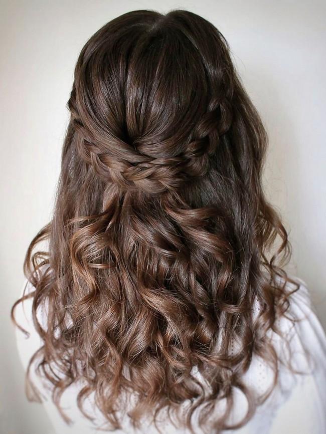 Olga Hampshire Half Up Half Down Wedding Hairstyles #wedding #hair #hairstyles #weddingideas