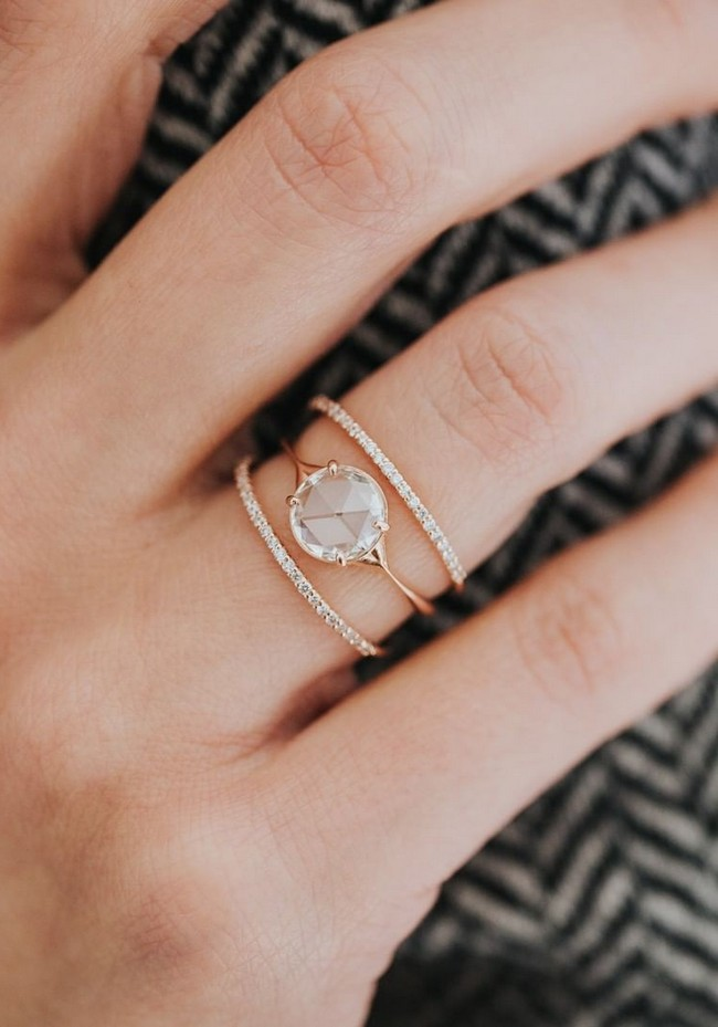 Vintage Engagement Rings and Wedding Bands from Melanie Casey Jewelry #rings #weddingrings #engagementrings