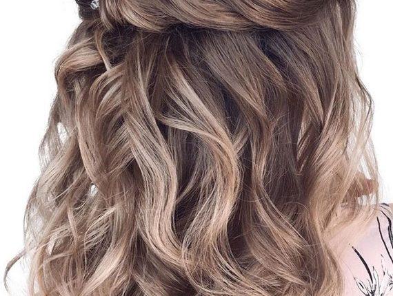 Half up half down wedding hairstyles 14