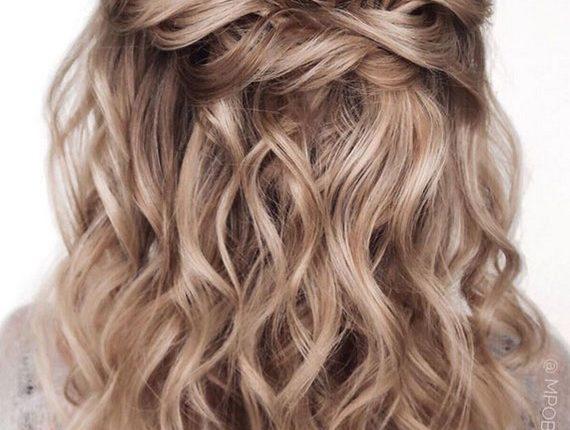 Half up half down wedding hairstyles 2