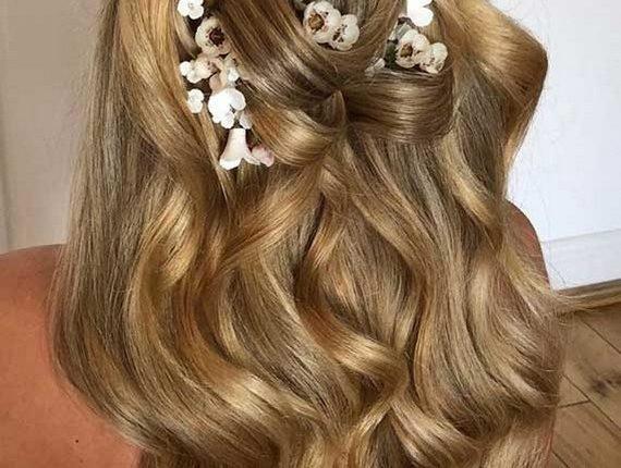 Half up half down wedding hairstyles 26