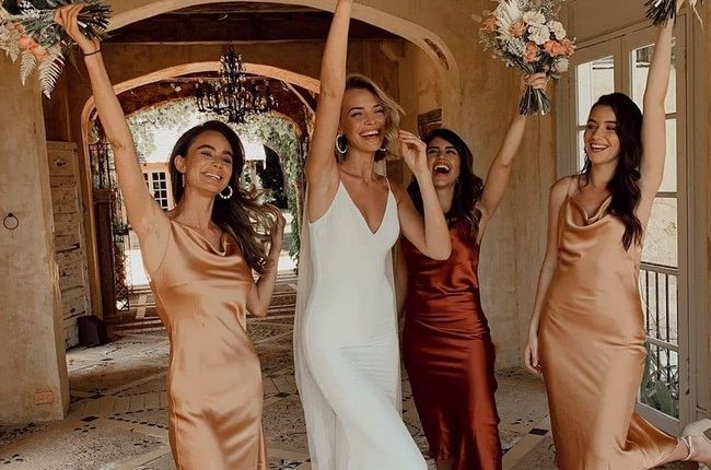 Silk Slip Bridesmaid Dresses 10
