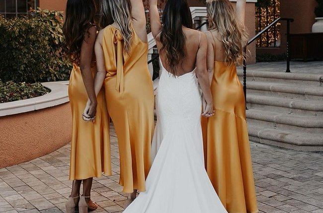 Silk Slip Bridesmaid Dresses 2