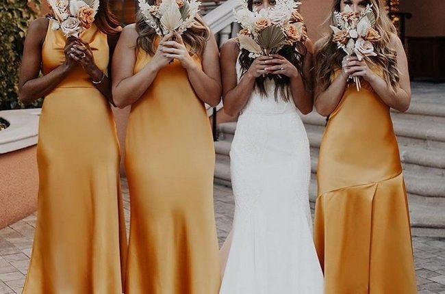 Silk Slip Bridesmaid Dresses 3