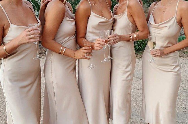 Silk Slip Bridesmaid Dresses 8