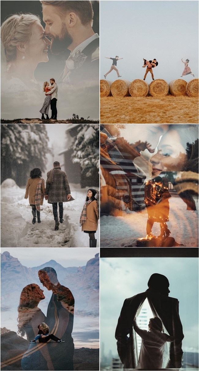 Double Exposure Engagement Photos #engagementphotos #engagement #photograph